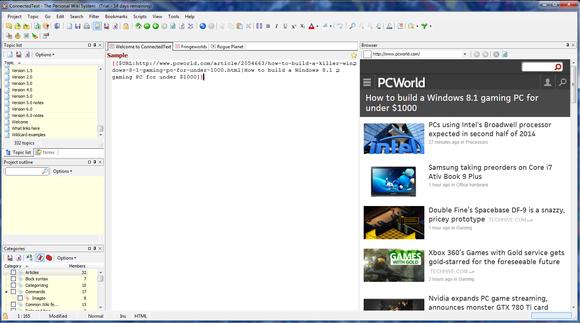 ConnectedText 6 screenshot