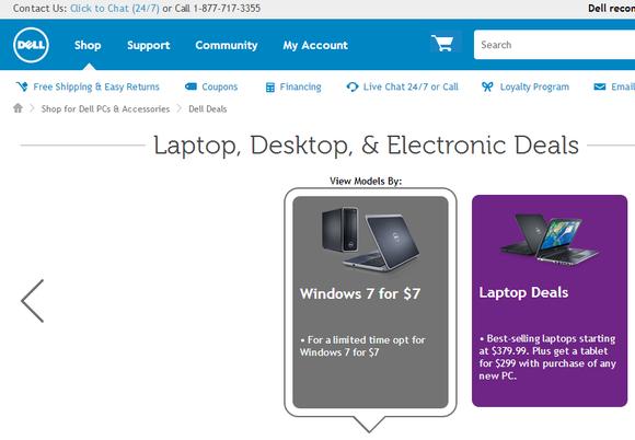 Dell Windows 7 deal