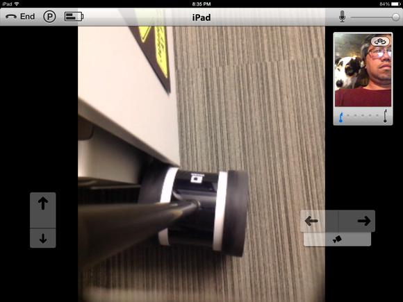 Double iPad app: Looking down