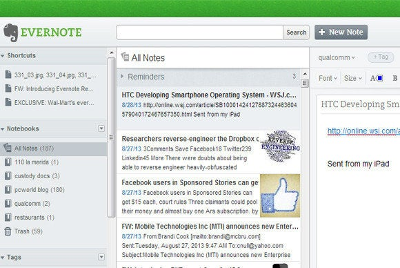 Add On Evernote Chrome