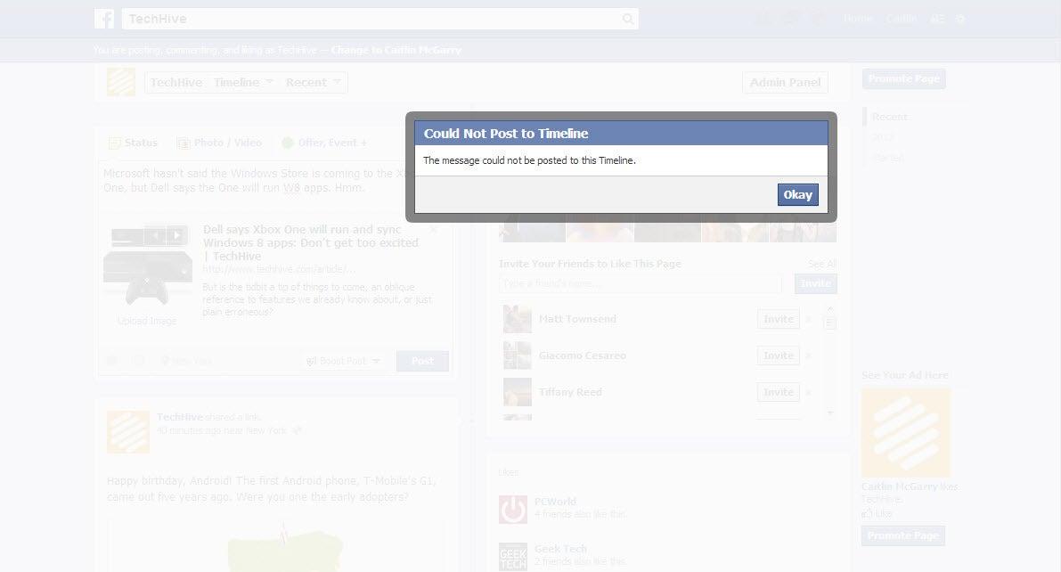 Facebook is broken: Status update error messages abound   PCWorld