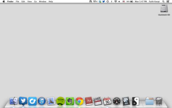 my desktop is blank mac