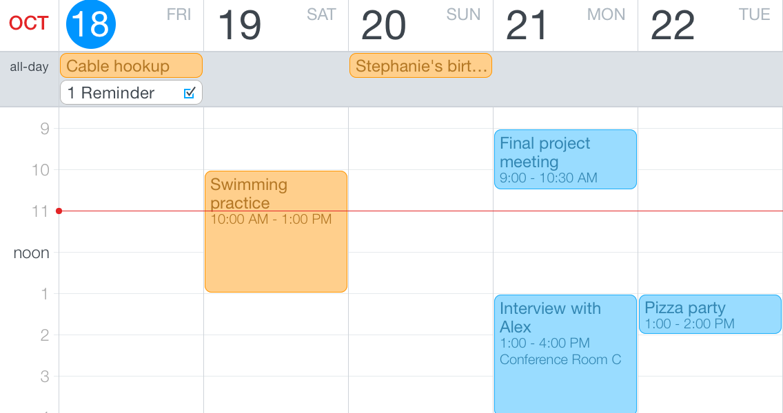Weekly Calendar View For Iphone Scrollable : Fantastical for iphone review calendar app gets more