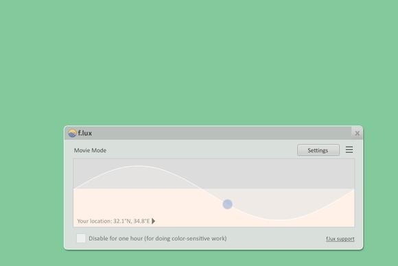 f.lux 3.91 screenshot