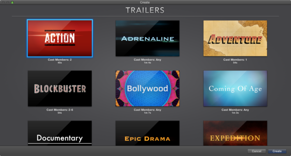Hands on imovie for mac and ios macworld for Trailer templates for imovie