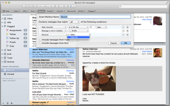 Smart Mailboxes in Mail 7.0