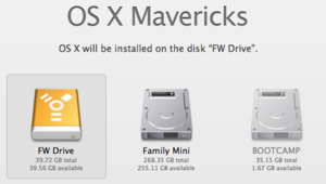 Mavericks installer's Show All Disks