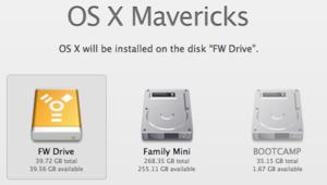 Mavericks installer's Show All Disks