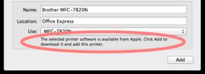 Mavericks printer drivers