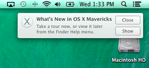 Mavericks What's New