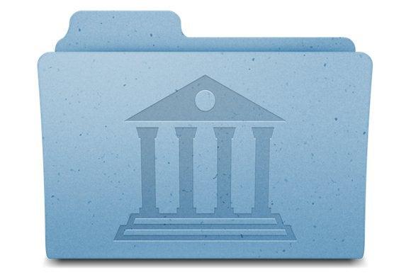 Mavericks Library folder