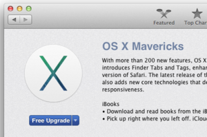 Mavericks in the Mac App Store