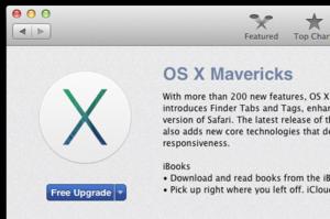 Mavericks in the Mac App Store