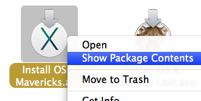Mavericks show package contents