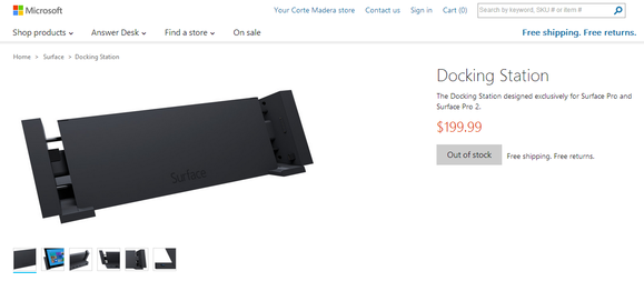 Microsoft Surface Pro 2 docking station