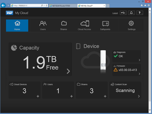 WD My Cloud Dashboard