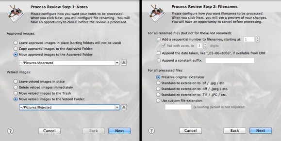 PhotoReviewer review options