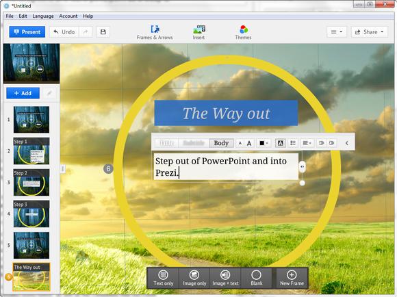 Prezi Desktop screenshot