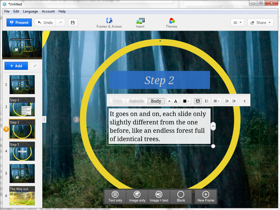 Prezi desktop review animate your presentations even for Prezi template library