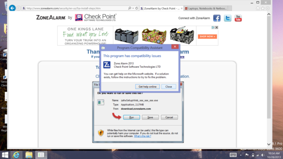 Check Point Windows 8