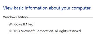 Windows 8.1 Pro System