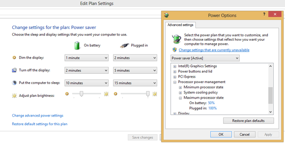 Windows Power Plan Settings