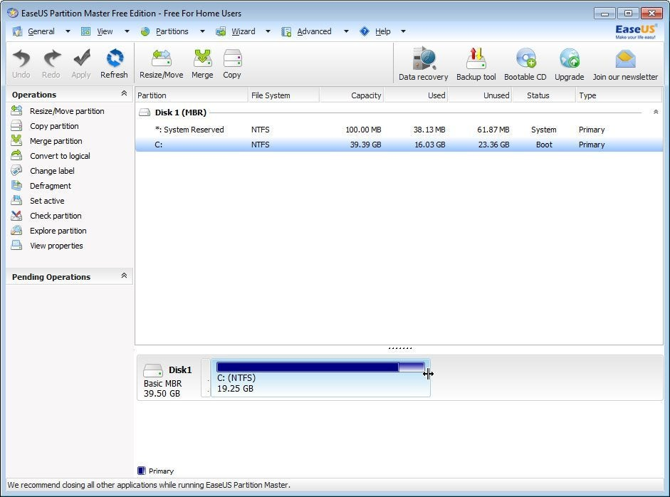 how to partition a hard drive that is active
