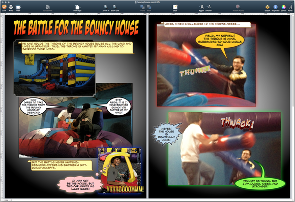 Comic Life 3 two page view