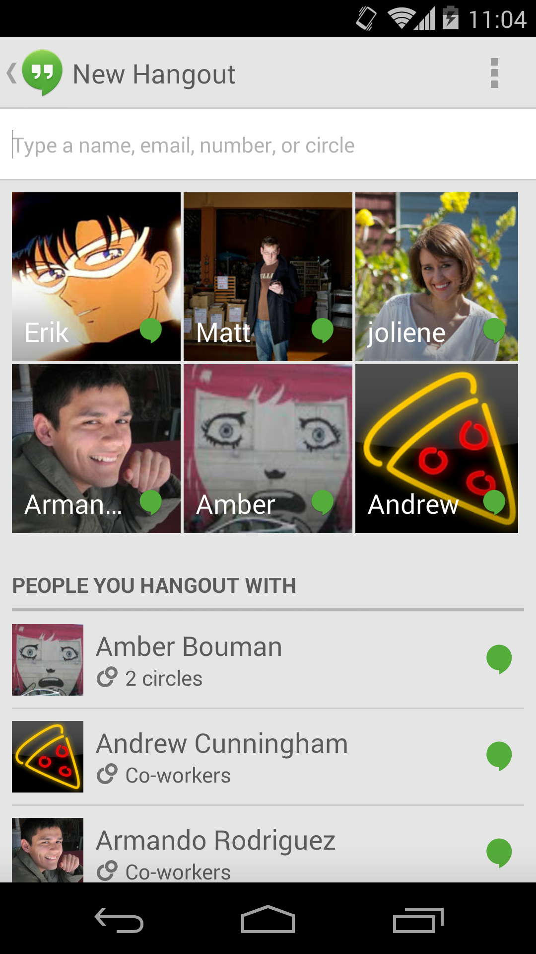 Get to know Hangouts in Android 4 4 KitKat | Greenbot