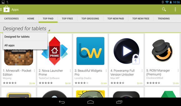 Google makes it easier to find tablet-optimized Android apps | PCWorld