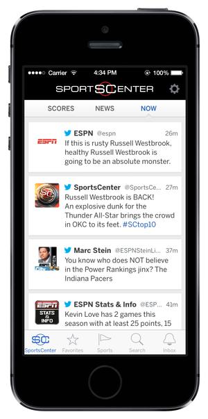 Hands-on with SportsCenter, ESPN's rebranded mobile app | PCWorld