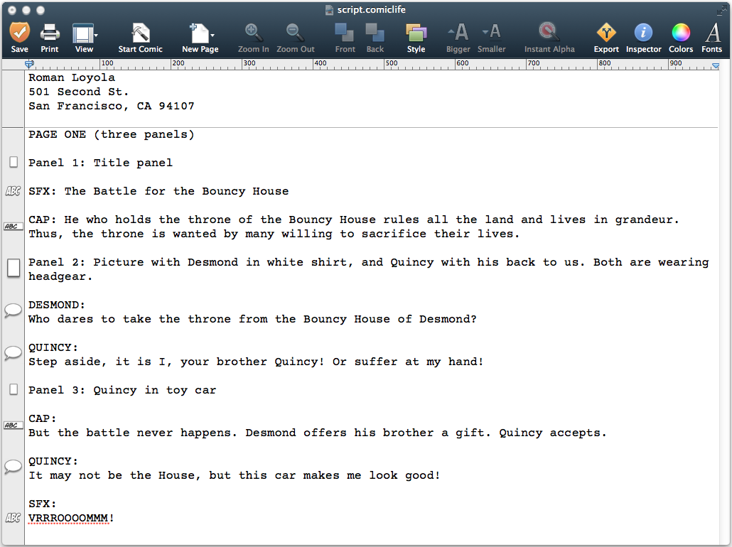 comic life review new tools help make you a better storyteller comic life 3 script editor