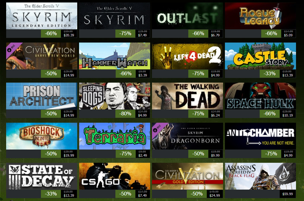 Steam autumn sale kicks off with massive discounts on for Best online sale sites