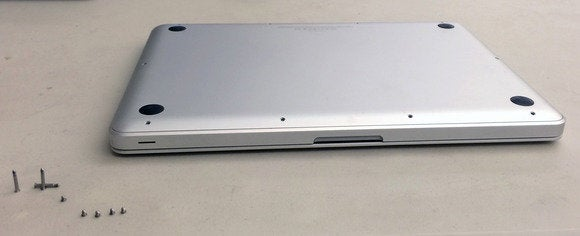 Removing screws from a Unibody MacBook Pro