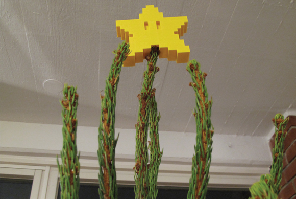 mario star tree topper