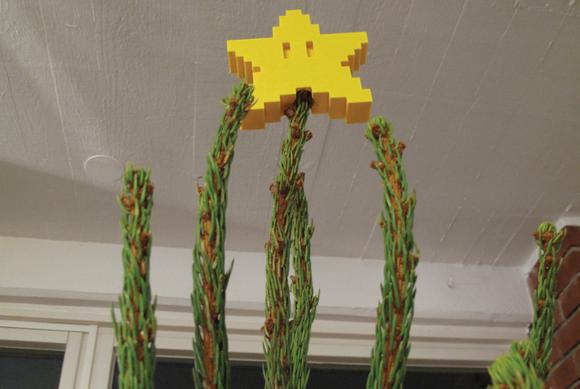 mario star tree topper