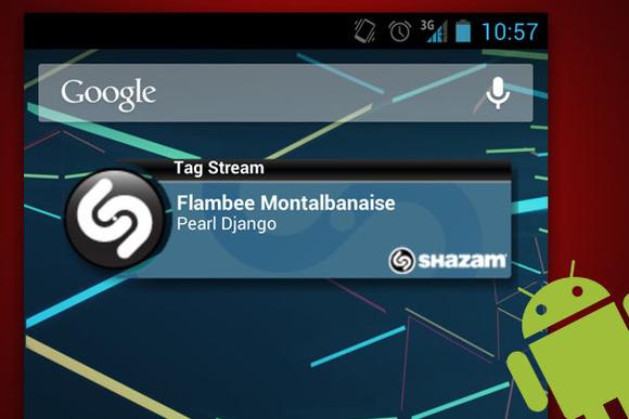 android widget shazam