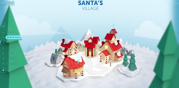 NORAD Santa Tracker's Santa Village