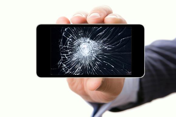 broken screen phone