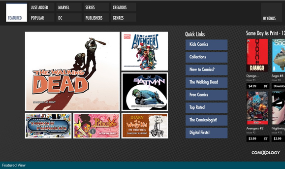 comixology windows 8