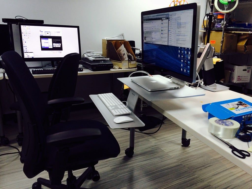 Ergotron Workfit A Review Have A Seat Or Stand At