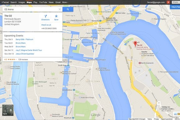 google maps cards