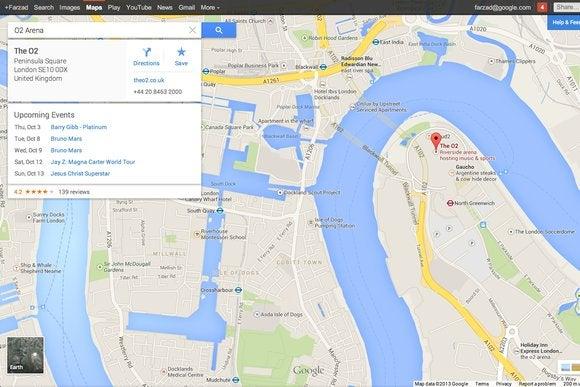 google maps cards