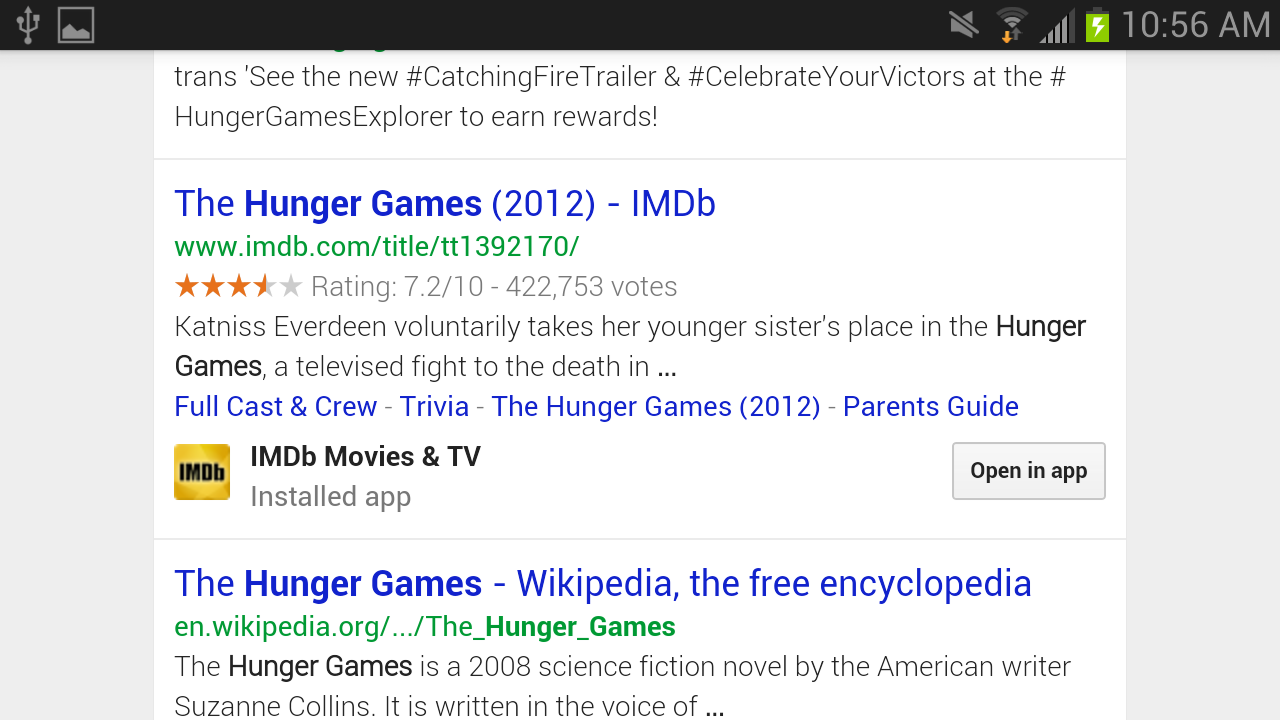 Google adds in-app search so you'll never need the web ever