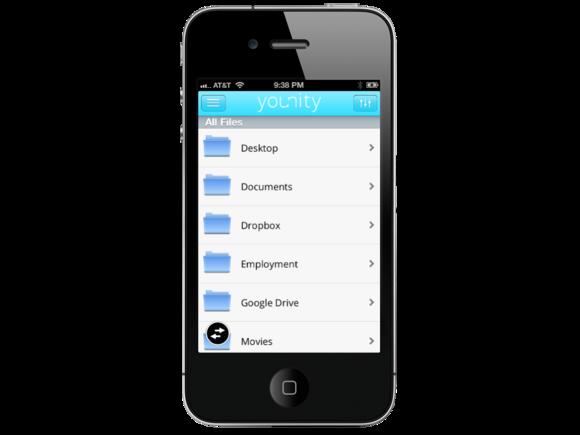iphone files menu