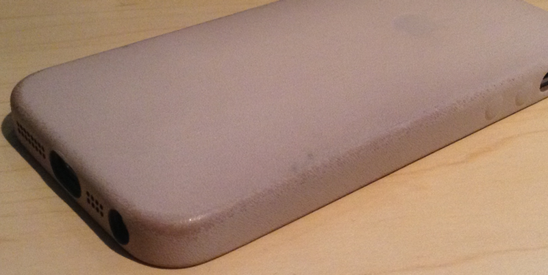 Apple iPhone 5S Case Beige MF042ZM/A - amazon.de