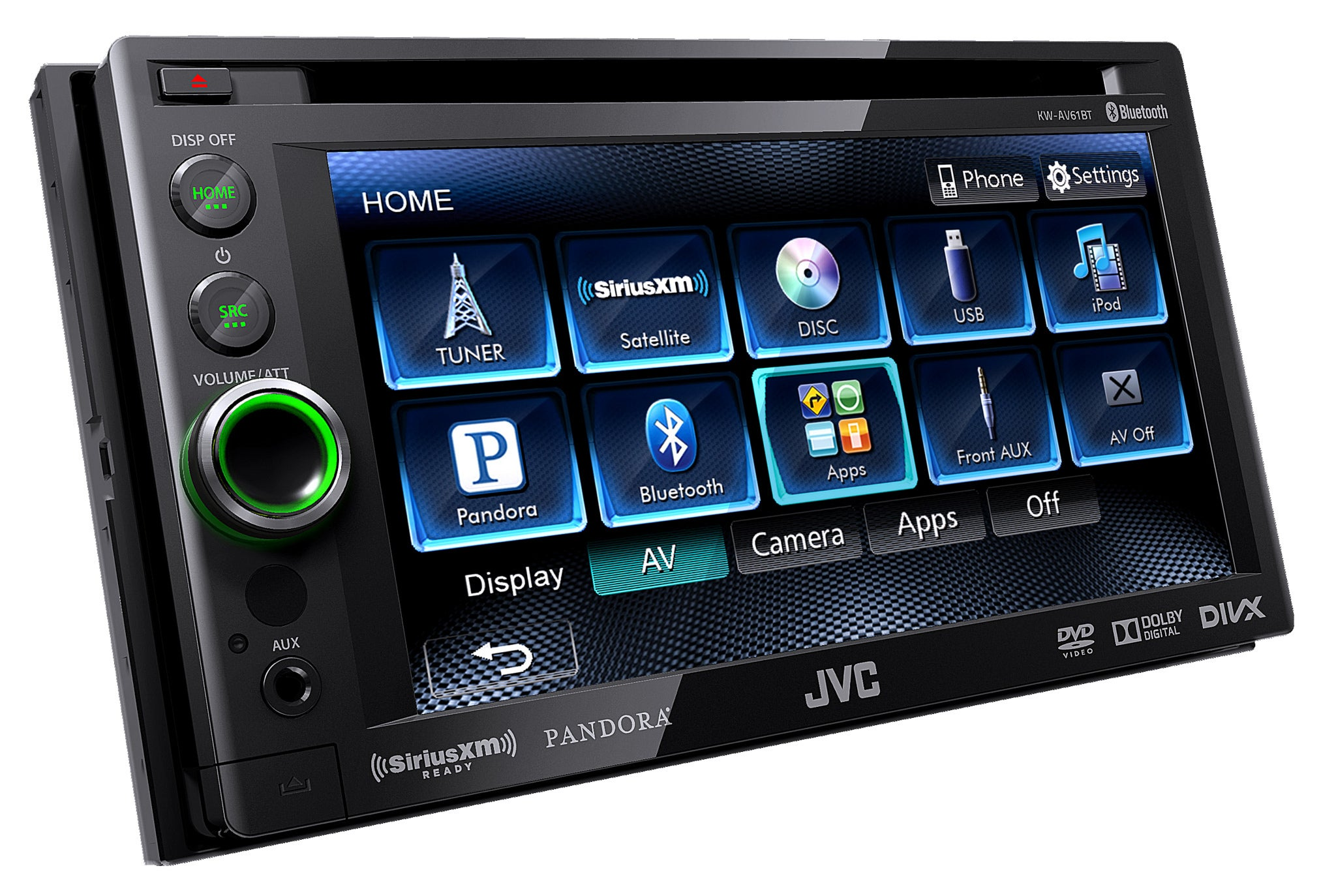 The jvc kw av61bt marries old style car stereo design with new style display navigation