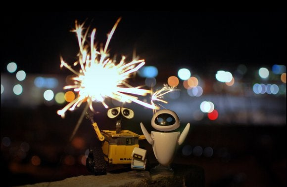 new year wall e