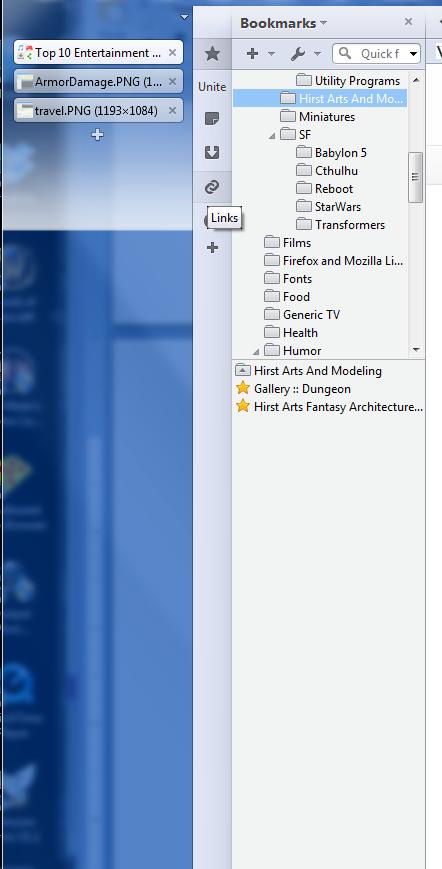Opera 12 sidebar screenshot