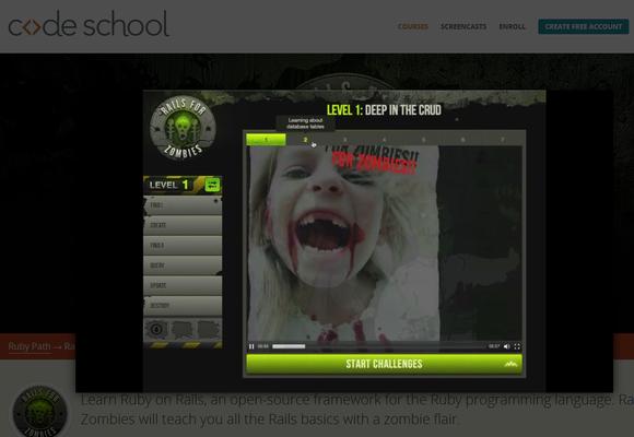 Rails for Zombies video screenshot